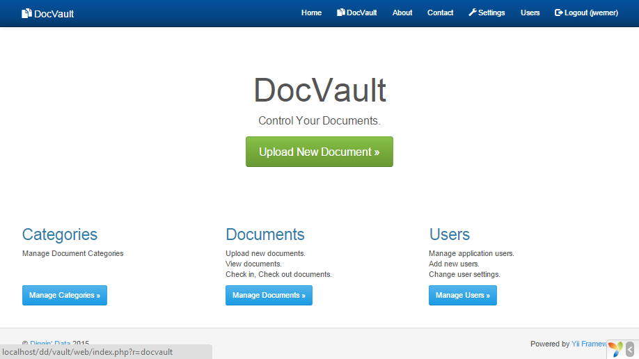 New Yii Extension DocVault :: Posts :: Blog :: Diggin Data